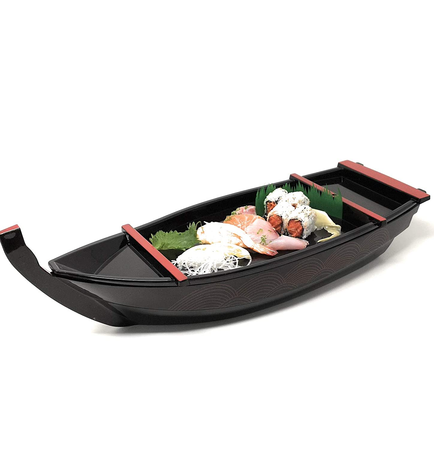 ASIAN HOME Japanese Sashimi Sushi Boat Plate Detachable Serving Tray For Restaurant Home Dining Decorative Dinnerware Party Hosting Display Boat 21