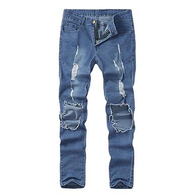 AIMEE7 Homme Jean Dechire Casual Homme Elastique Skinny Slim Fit Pantalon  en Denim Homme Pas Cher Pantalons Grande Taille  Amazon.fr  Vêtements et ... 714ecfb981ef