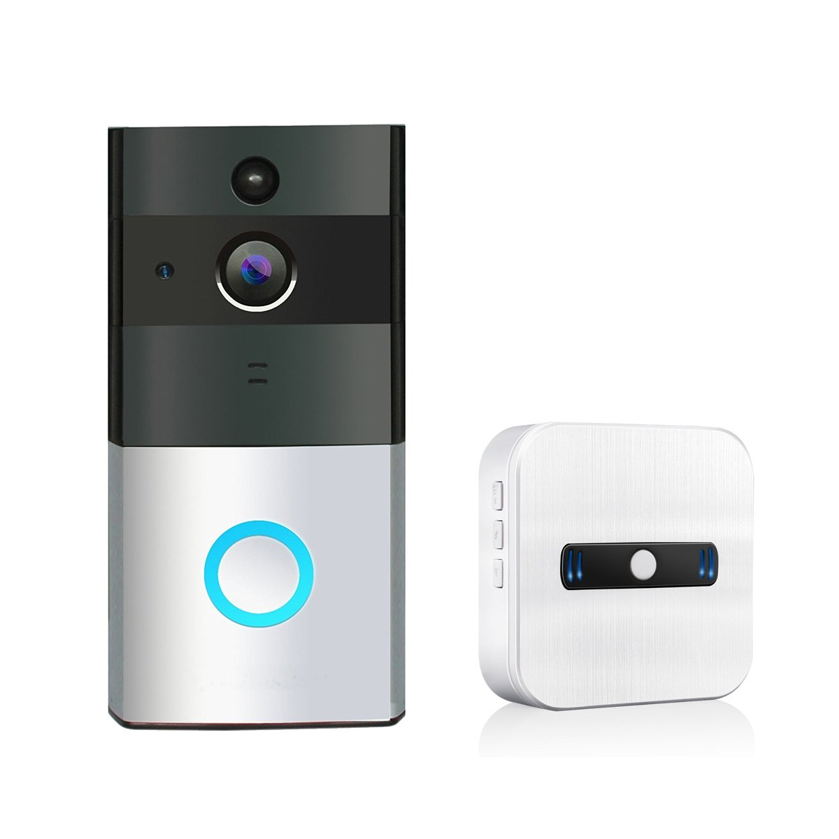 TIVDIO ZC-IP08 Video Doorbell Wireless Doorbell Camera 720P HD Wi-Fi Security Camera with 1 Indoor Chime Built-in 8G Card, App Control for IOS and Android