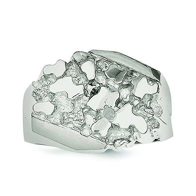 Plata de ley anillo de pepita de Hombre - tama?o de 1/2 - JewelryWeb tOx8v