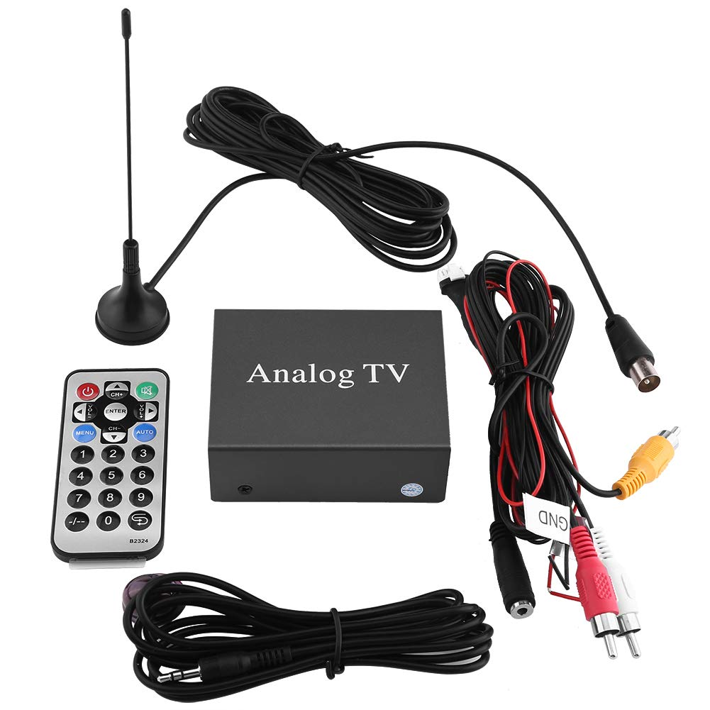 Car Digital TV receiver, Keenso Car Mobile DVD TV Receiver Analog TV Tuner Strong Signal Box with Antenna Remote Controller by Keenso
