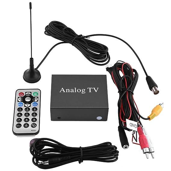 Kit de receptor de DVD para coche, Receptor de TV digital de DVD móvil para coche, Caja fuerte de señal de sintonizador de TV analógica con control remoto ...