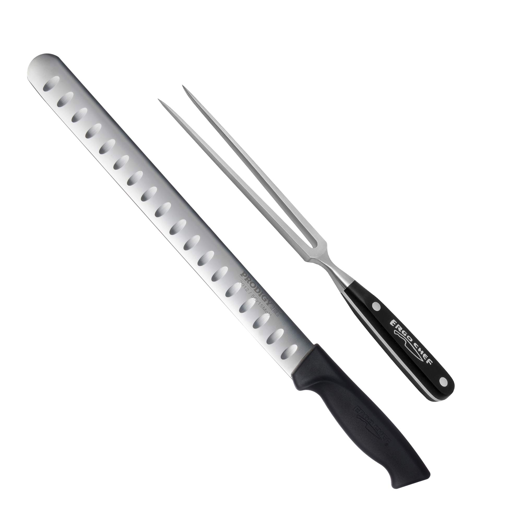 2 piece Prodigy 12 inch Slicer and Pro Series Carving Fork Set