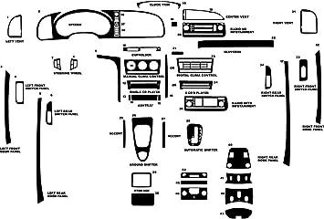 White Gloss Rvinyl Rdash Dash Kit Decal Trim for Chevrolet Silverado 2003-2006