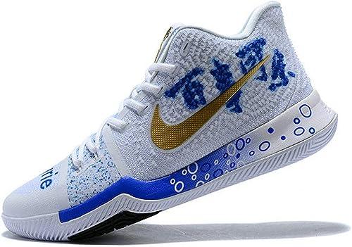 Coca-Cola X Kyrie 3 Custom White Blue Gold Zapatos de ...