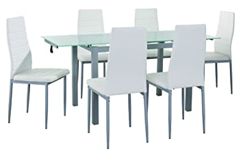 Mobilier Deco Table A Manger En Verre 2 Rallonges Extensible 6