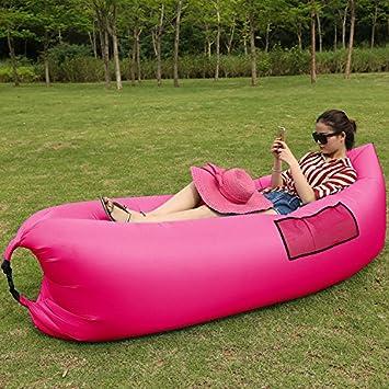 Sacos de dormir inflable saco de dormir para acampar al aire libre playa sofá cama cama