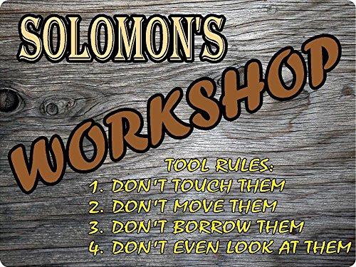SOLOMON Workshop tool rules wood effect design décor sign 9