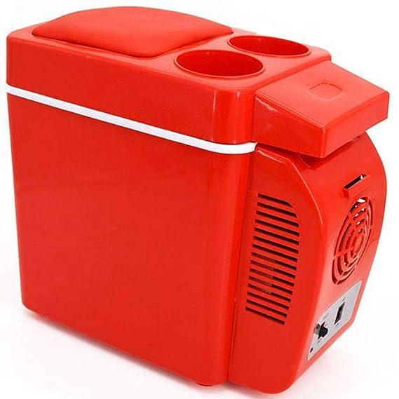 Mini Nevera Rojo, Portátil Refrigerador y Más Cálido 7L Coche ...