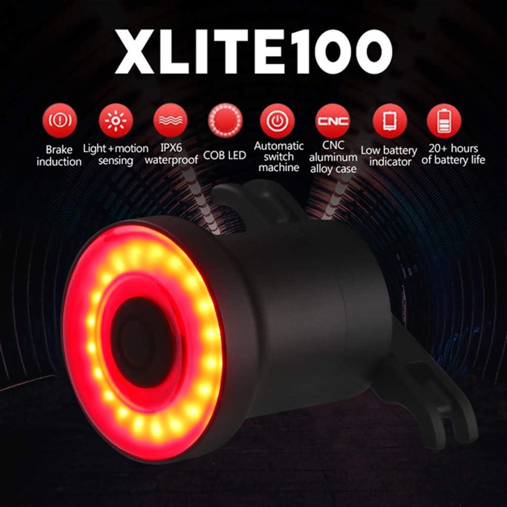 XLite 100 Imperméable Vélo DEL USB sens Feu Arrière Smart Frein Feux
