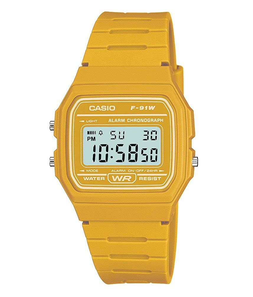 b8665c9e1e06 Casio Men s Yellow Digital Watch with Resin Strap F-91WC-9AEF   Amazon.co.uk  Watches