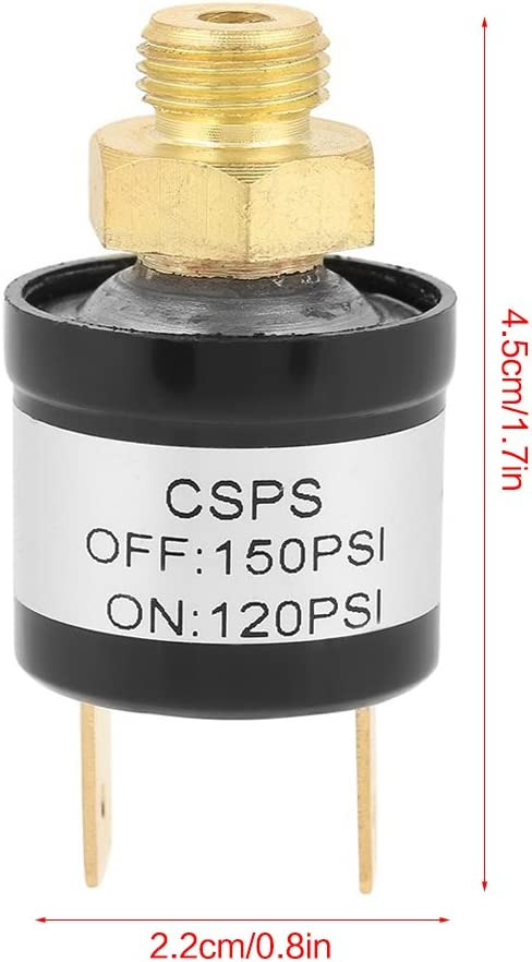 off commutateur de contrôle de la valeur de 90 à 120 psi 240v 16a new 1x compresseur pression on
