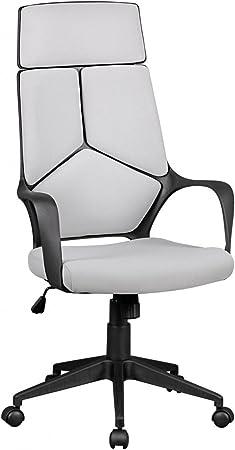 FineBuy Design Chaise Bureau Tissu Chaise exécutif rembourré