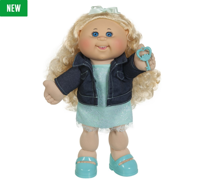 Cabbage patch Kids Adoptimal Doll 35,6cm, capelli biondi e occhi blu Jakks