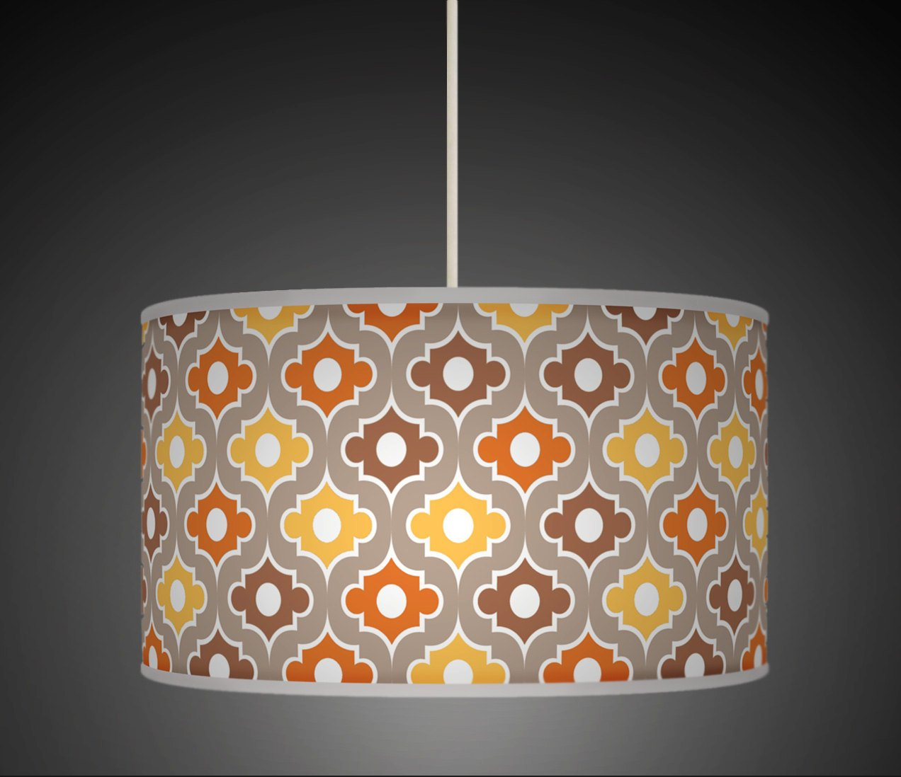 20cm 8 moroccan mustard orange retro handmade geometric giclee 20cm 8 moroccan mustard orange retro handmade geometric giclee style printed fabric lamp drum lampshade floor or ceiling pendant light shade 600 aloadofball Gallery