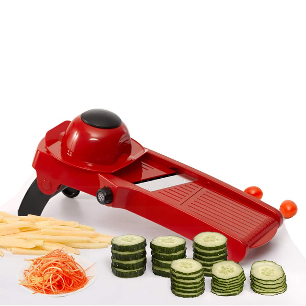 DENGSH Vegetable Slicer,Multi-Function Chopper,Shred Slicer,Manual Quickly Cut Vegetables Save Time and Energy Multipurpose/Red by DENGSH
