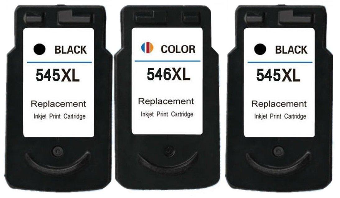2 XL Compatibles PG-545XL Cartuchos de Tinta para Pixma MG2400 MG2450 MG2455 MG2550 MG2550S MG2555 MG2555S iP2850 MG2900 MG2950 MG3050 MG3051 MG3052 ...