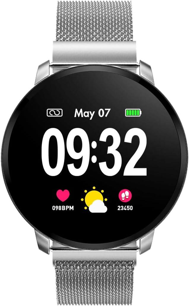 Smartwatch Fashion para Hombre Mujer Impermeable Reloj Inteligente Monitores de Actividad Fitness Tracker con Monitor de Sueño Pulsómetros Podómetro Compatible con iOS Android Huawei