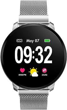 Smartwatch Fashion para Hombre Mujer Impermeable Reloj Inteligente Monitores de Actividad Fitness Tracker con ...