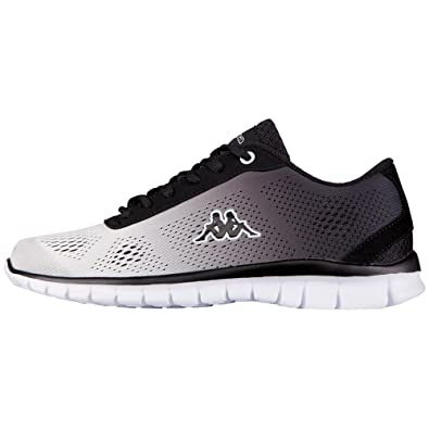 Kappa Sunrise Light Footwear Unisex, Mesh/Synthetic, Unisex-Erwachsene Sneakers, Weiß (1011 White/Black), 37 EU (4 Erwachsene UK)