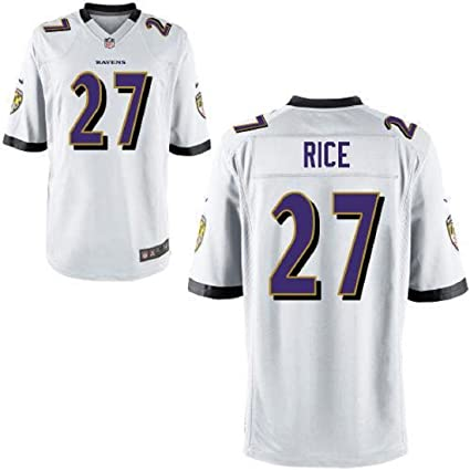37f6336e17c Outerstuff Ray Rice Baltimore Ravens #27 Youth On Field Jersey White (Youth  Small 8