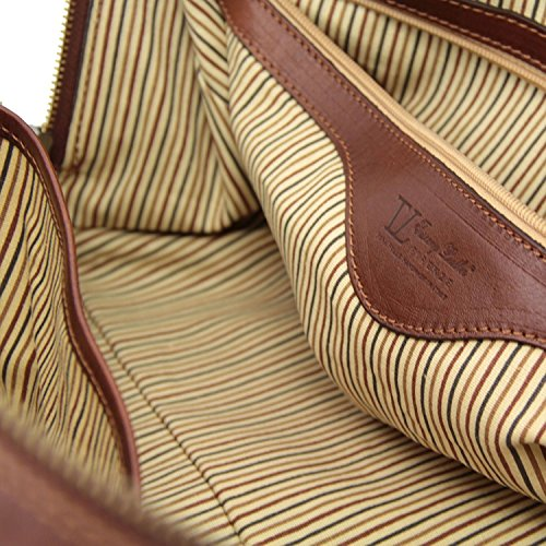Tuscany Leather - TL Voyager - Maleta de viaje en piel - Modelo Pequeño Marrón - TL141216/1 Marrón