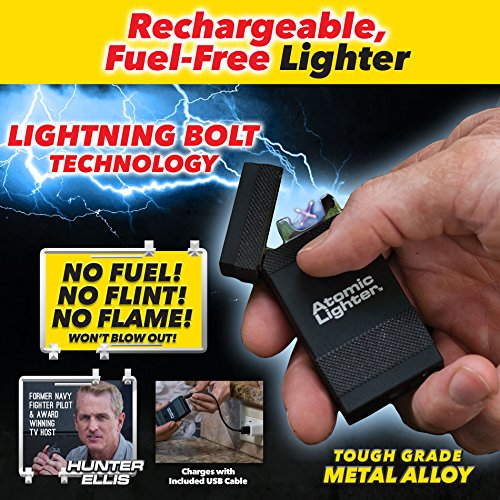 Atomic Lighter by BulbHead, The Original Rechargeable Electric Lighter That's Windproof, USB Chargeable