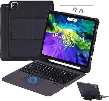 SuoHong - Funda con teclado Bluetooth para iPad Pro 11 2020/2018, con soporte y soporte para lápiz, desmontable, diseño del Reino Unido (Ipad Pro 11