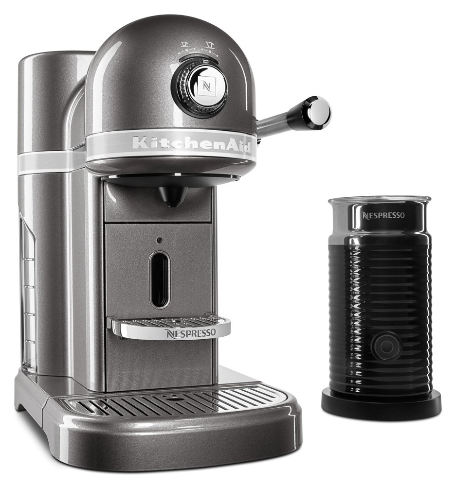 KitchenAid KES0504MS Nespresso Bundle, Medallion Silver