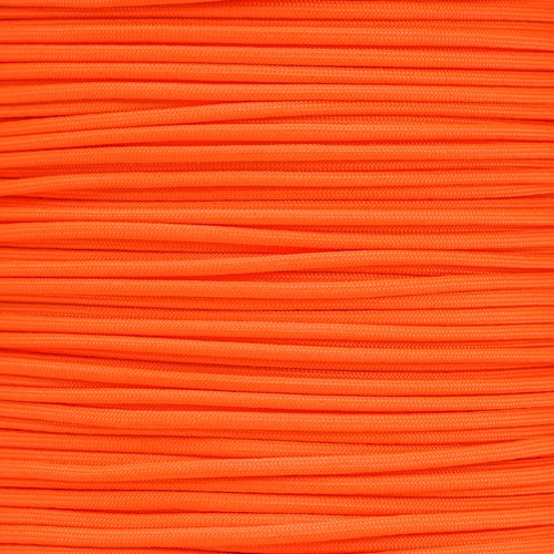 PARACORD PLANET 550 Cord Type III 7 Strand Paracord 1000 Foot Spool - Orange