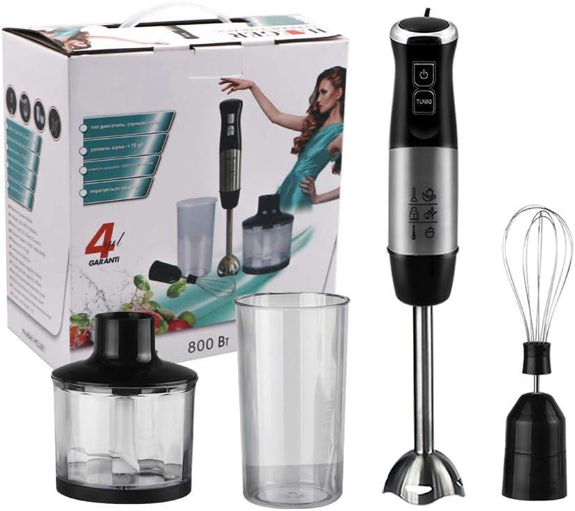 ZLYCZW Batidora de Mano 4 en 1 para Cocina, Incluye batidora picadora, sin Vaso de BPA, licuadora de inmersión para Batidos, Batidos y más - Negro: Amazon.es