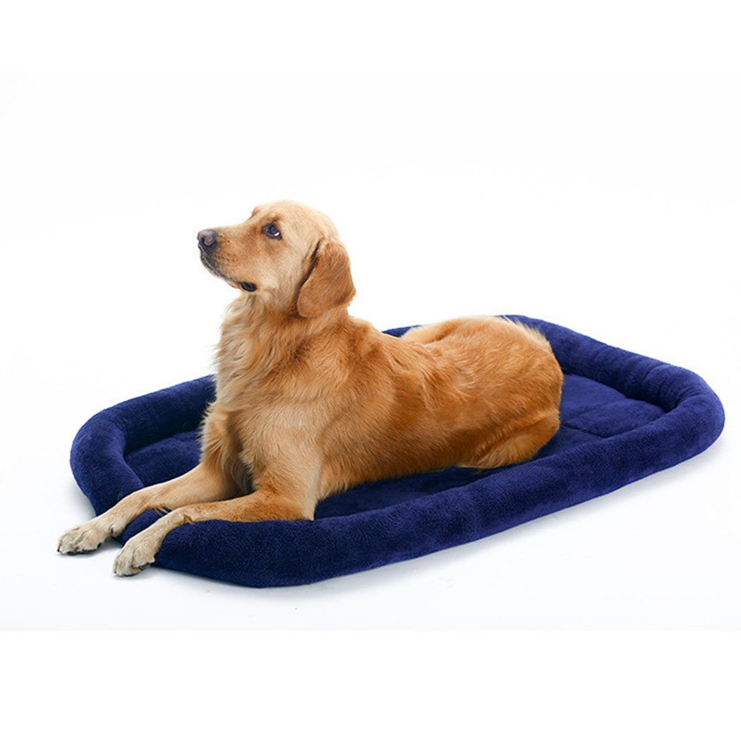 Dark bluee XL Dark bluee XL Dog Bed Mat, Legendog Dog Cushion Solid color Warm Pet Cushion Bed Pet Supplies for Dogs Cats XL