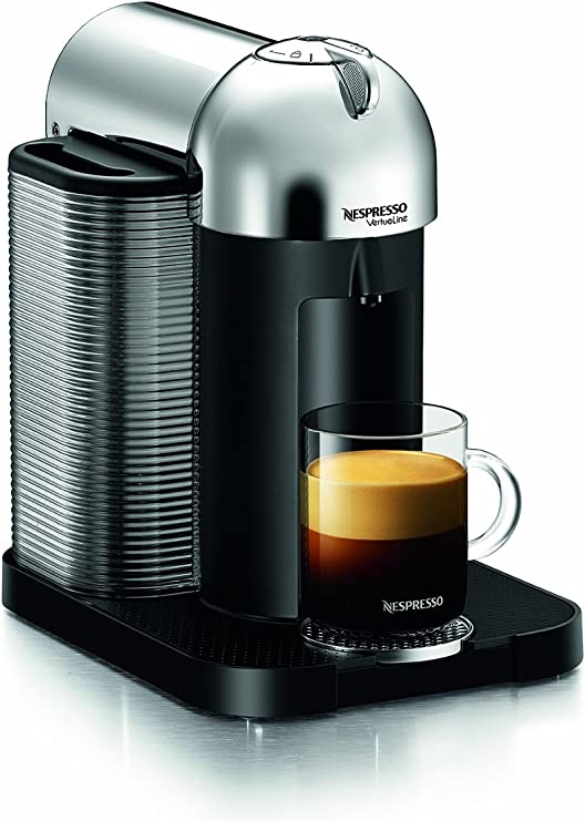 Nespresso GCA1-US-CH-NE VertuoLine Coffee and Espresso Maker, Chrome (Discontinued Model)