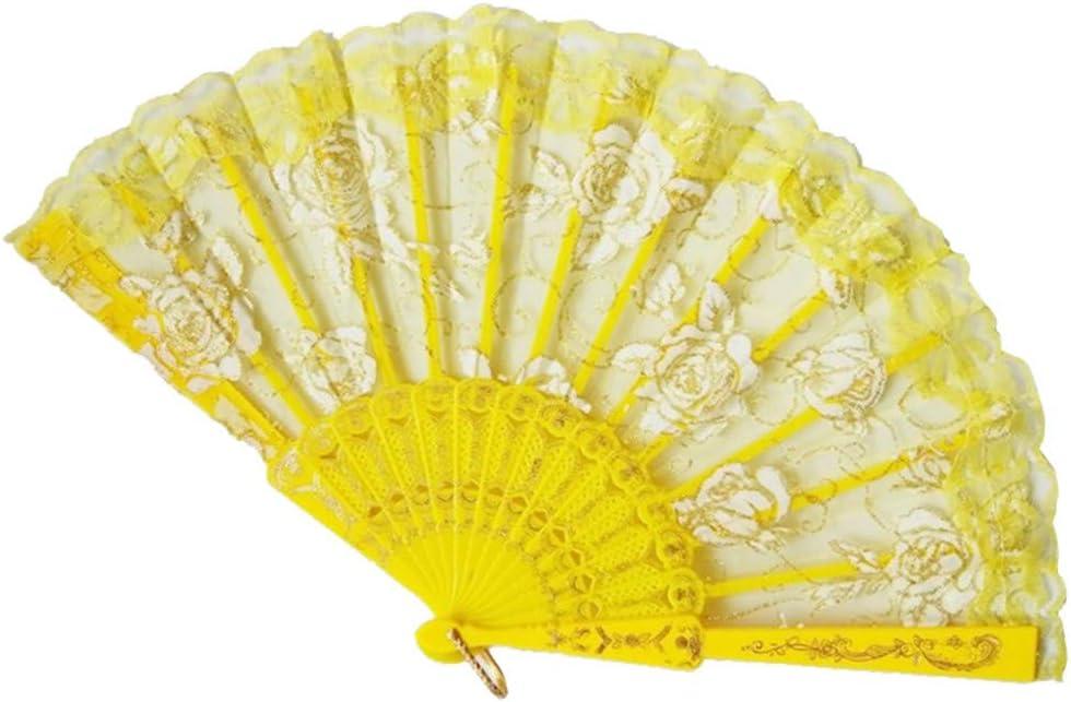 Tashioning Ventiladores Plegables Portátiles De Bambú Ventilador Mano Hueco Para Mujer Abanico Plegable Tela Negra Bordado Patron Flores Colorida Mujeres(D): Amazon.es: Hogar