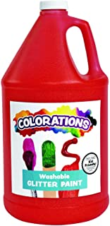 product image for Colorations Washable Glitter Paint, Gallon, Red, Non Toxic, Vibrant, Bold, Kids Paint, Craft, Hobby, Fun, Art Supplies, Model Number: GPGRE
