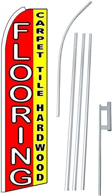 Neoplex Flooring With Man Graphics Deluxe Swooper Flag Orange for sale online