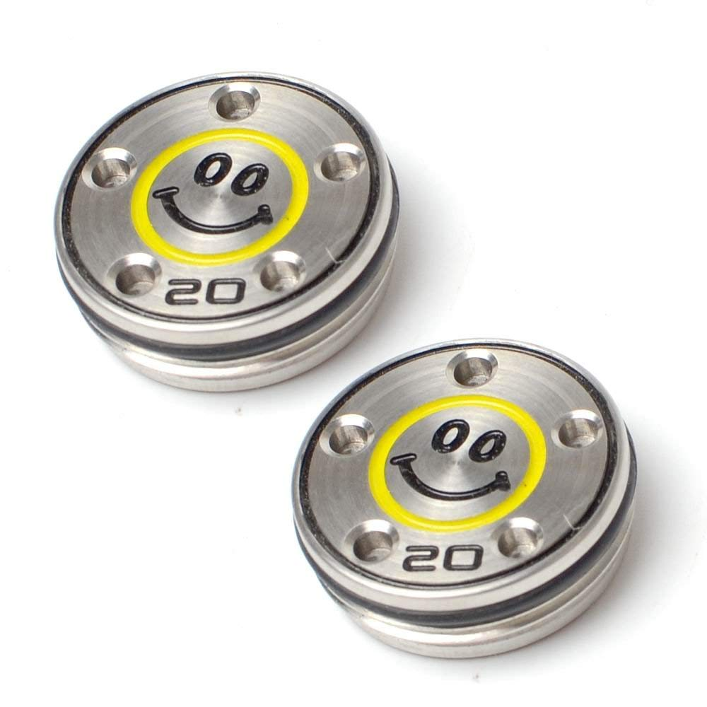 PLUSKER 2pcs Golf Custom Putter Weights with Smiley Face Pattern 20g Available for Scotty Cameron Select Newport Studio Design California GoLo Futura X Series Clubs Head by PLUSKER
