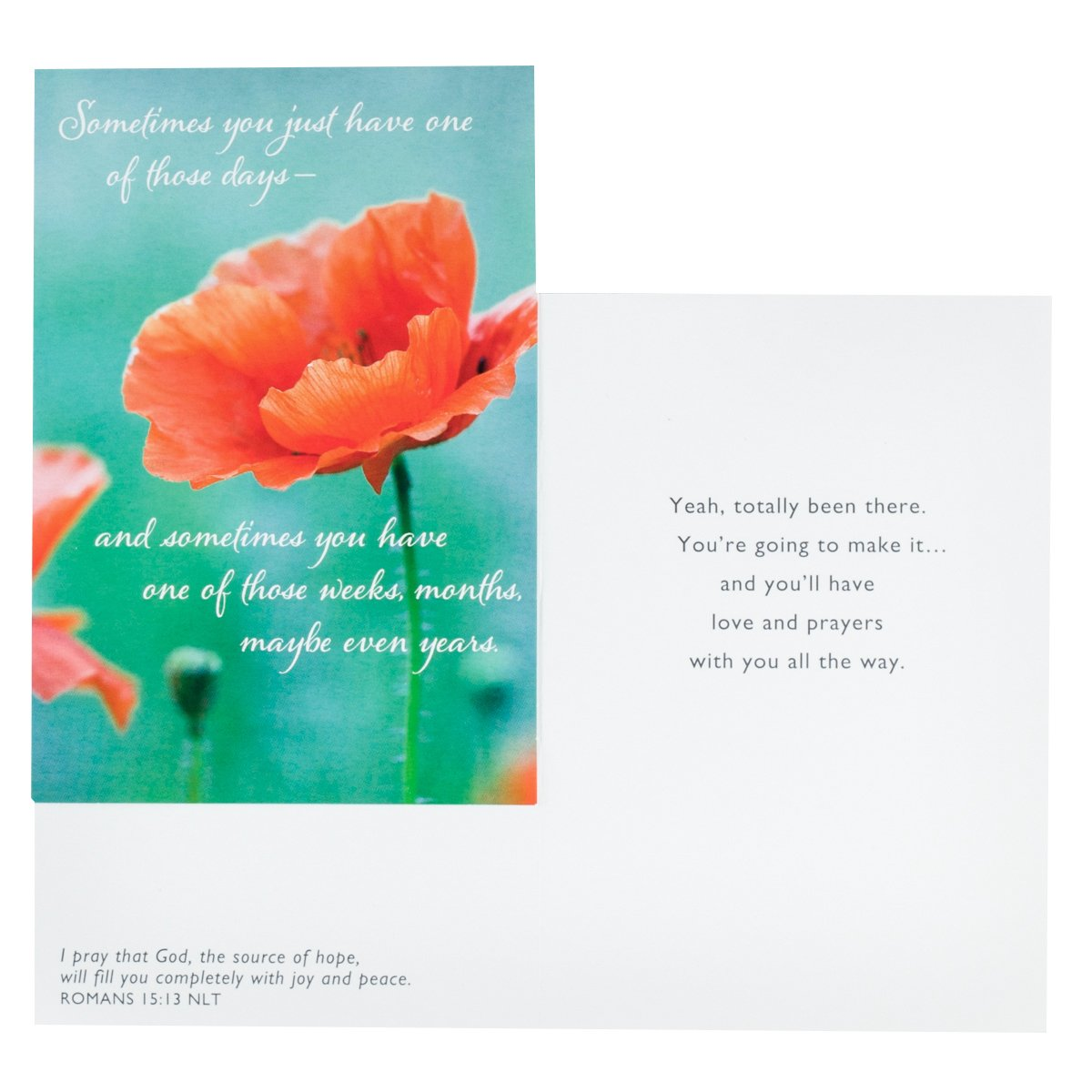 12-Count Strong DaySpring Difficult Times Greeting Card with Embossed White Envelopes 45019