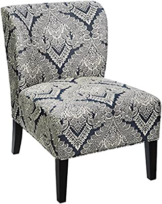 Ashley Casual Wood and Polyester and Acrylic Chair in Gray, Tan Finish A3000063