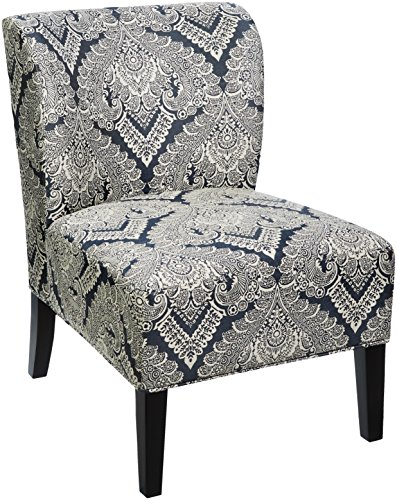 Fully Upholstered Contemporary Guest Chair - Ashley Furniture Signature Design - Honnally Accent Chair - Contemporary Style - Sapphire