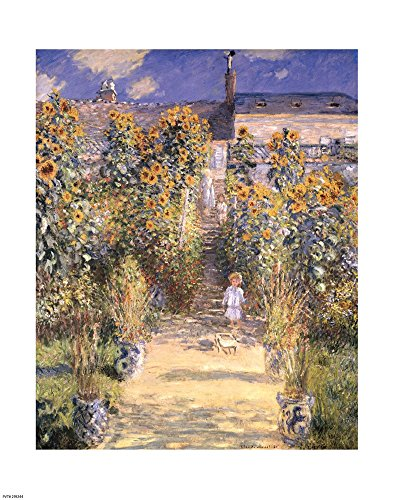 (The Artist's Garden at Vetheuil with Boy, c.1880 by Claude Monet Art Print, 8 x 10 inches)