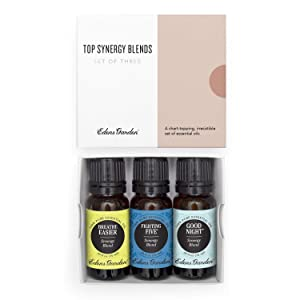 Edens Garden Top Synergy Blend Essential Oil 3 Set, Best 100% Pure Aromatherapy Starter Kit (For Diffuser & Therapeutic Use), 10 ml
