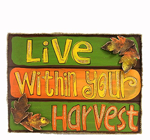 Multicolor DesMa Group BFSP0603 Live Within Wood Sign