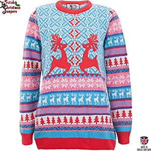 Dancing Stags - Womens Christmas Sweater by British Christmas Jumpers