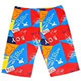 Aivtalk Big Boys Jammer Colorful Sun Protective Summer Quick Dry Swimming Boxer Trunk 10-12 Years Red