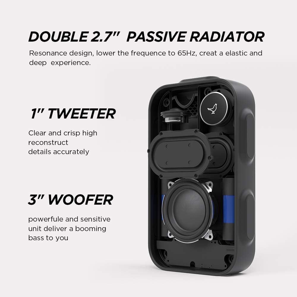 Libratone One Click Bluetooth Lautsprecher 360 Sound Touch Bedienung Ipx4 Spritzwassergeschützt 12 Std Akku Graphite Grey Audio Hifi