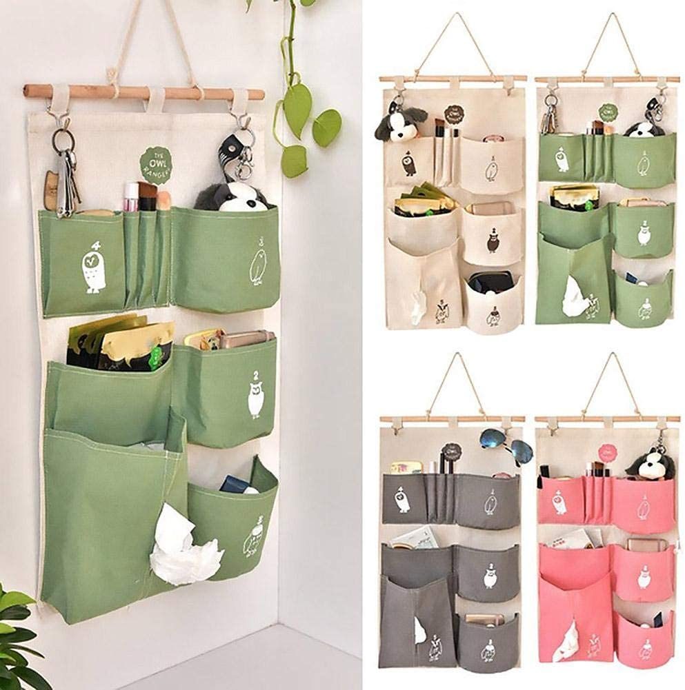 Beige HENGSONG 16 Lots Socks Jewelry Bra Underwear Hanging Storage Pockets Bags Organizer