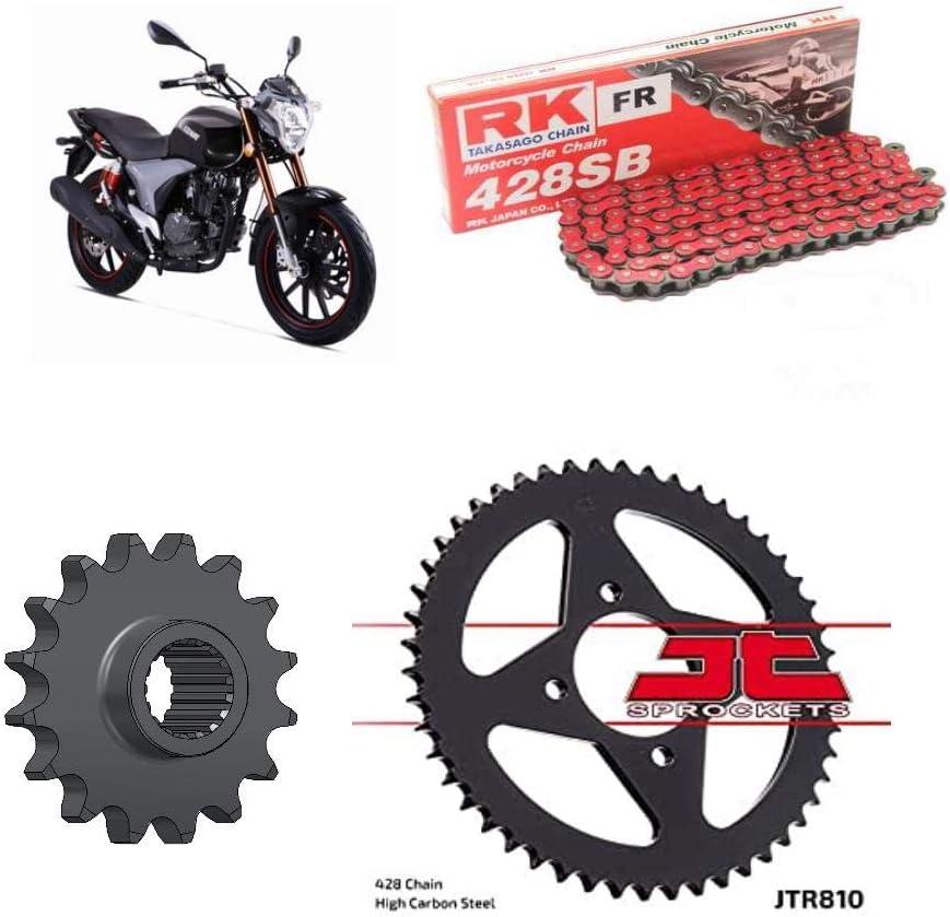 Red Keeway RKV125 Chain /& Sprocket Kit