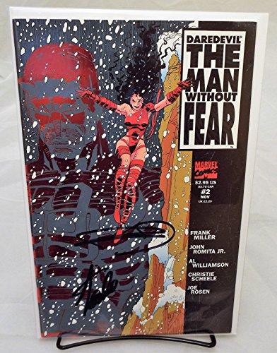 STAN LEE / Frank Miller Dual Signed / Autographed Daredevil The Man Without Fear #2 VF Comic..STan Lee Hologram COA Excelssior