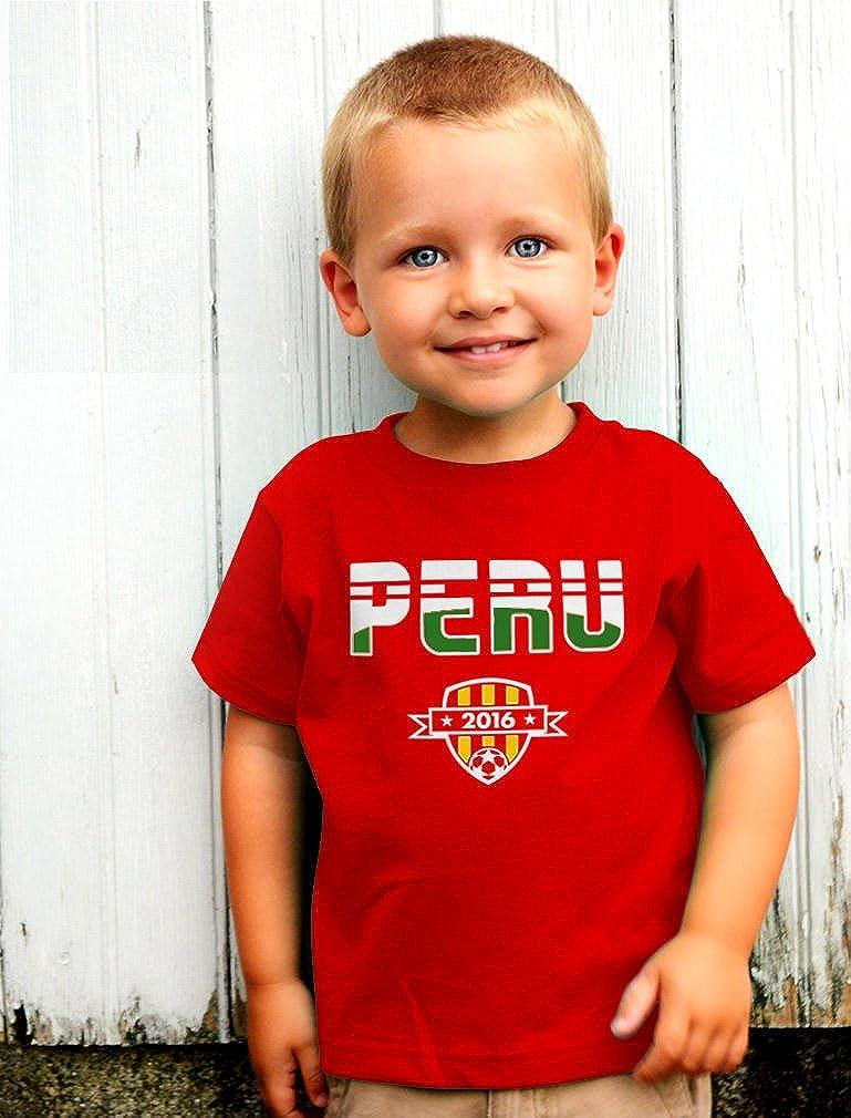 TeeStars Peru National Soccer Team 2016 Fans Toddler//Infant Kids T-Shirt